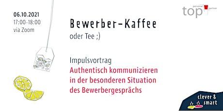 Bewerber-Kaffee Oktober Tickets