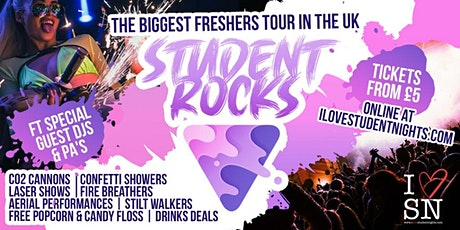 STUDENT ROCKS   Cardiff Freshers 2021 // UK's Biggest Student Freshers Tour tickets