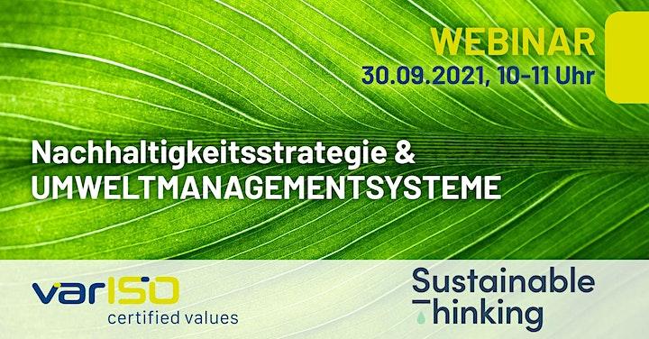 """Webinar """"Nachhaltigkeitsstrategie & Umweltmanagementsysteme"""": Bild"""