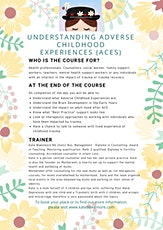 Working Therapeutically with Adverse Childhood Experiences tickets