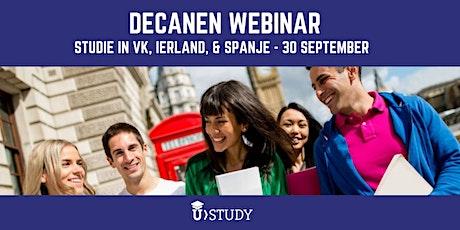 Decanen webinar : Studie (en sport) in VK, Ierland en Spanje tickets
