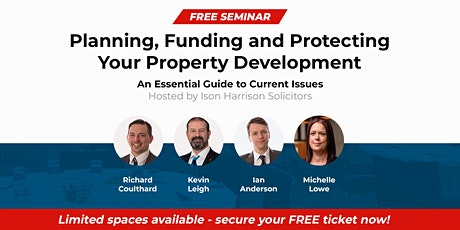 (Online)Seminar: Planning, Funding and Protecting Your Property Development tickets
