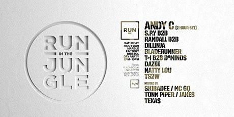 RUN in the Jungle day party with Andy C tickets