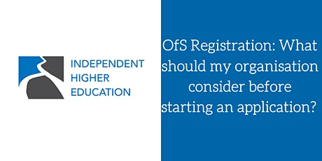 OfS - What should my organisation consider before starting an application? tickets