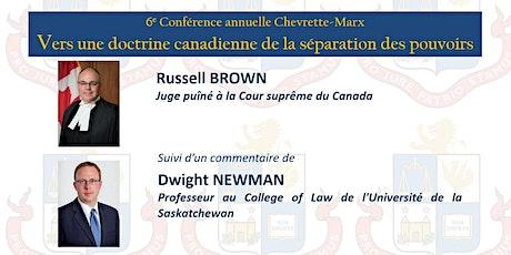 6e conférence annuelle Chevrette-Marx billets
