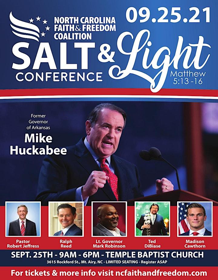 NC Faith & Freedom Salt & Light Conference image