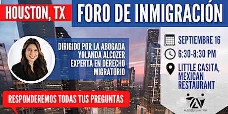 Foro de Inmigración tickets