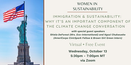 Immigration & Sustainability: Why It's Important to Climate Change(Webinar) tickets
