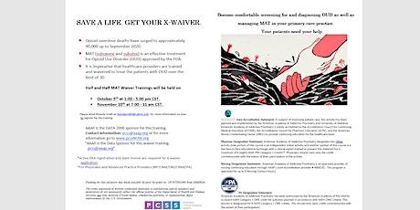 Buprenorphine X-Waiver Training tickets
