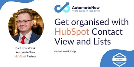 Get organised using HubSpot Contact View and Lists tickets