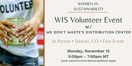 Women in Sustainability Volunteer Event w/ We Don't Waste (Denver, CO) tickets