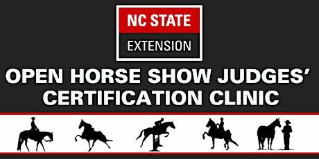 2021 NCSU Open Horse Show Judges Certification Clinic tickets