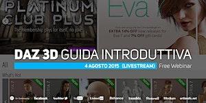 Daz 3D, Guida Introduttiva (free webinar)