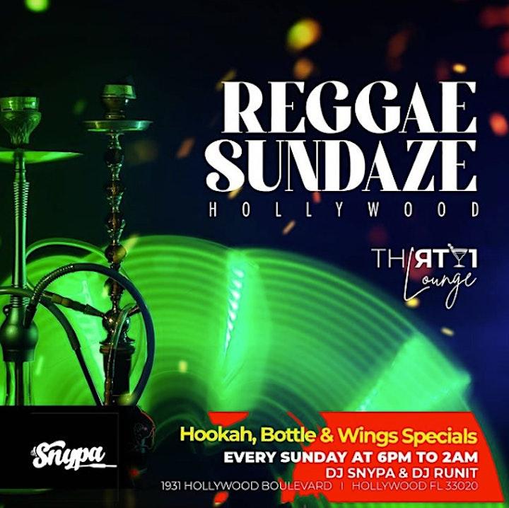 Reggae Sundayz At Thirty1 Lounge image