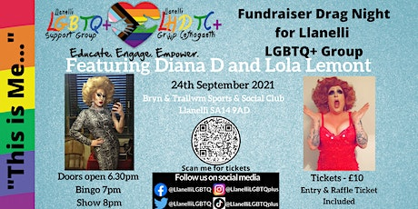 'This is Me'  Drag Night Fundraiser for Llanelli LGBTQ+ Group 18+ tickets
