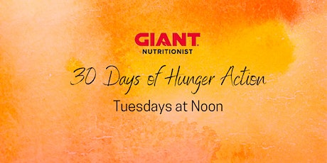 VIRTUAL September: 30 Days of Hunger Action tickets