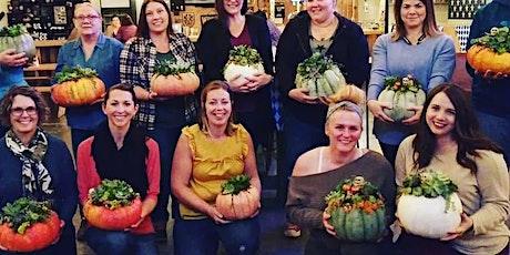 Succulent Pumpkin Centerpiece at Wild Child Farm tickets