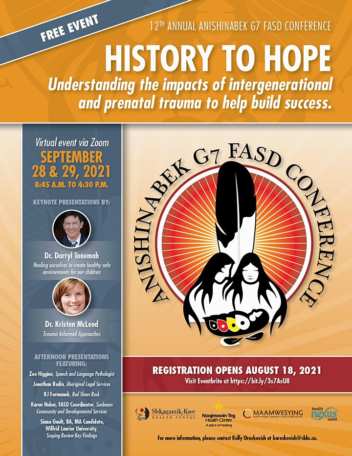 12th Annual Anishinabek G7 FASD Conference - History to Hope image