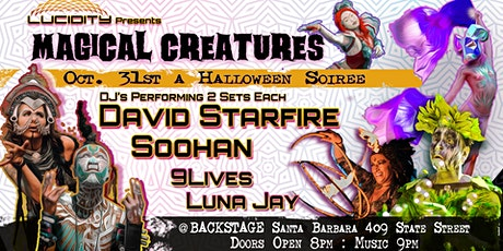 Lucidity Halloween Soiree: Magical Creatures with David Starfire & Soohan tickets