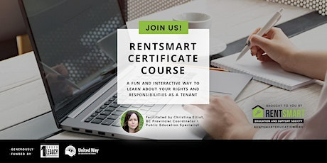 RentSmart Certificate: Lower Mainland - Youth + Families: October 4-13 tickets