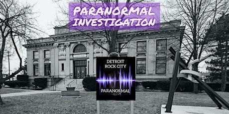 Detroit Rock City Paranormal Investigation Carnegie Museum tickets