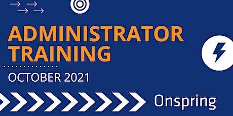 Onspring Administrator Training (October 2021) tickets