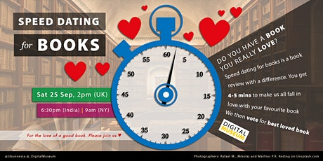 DIGITAL MUSEUM - SPEED DATING for BOOKS tickets