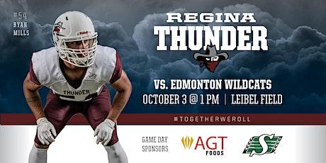 Regina Thunder VS Edmonton Wildcats tickets