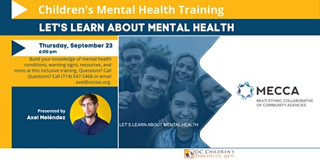 Let's Learn About Mental Health  - A workshop for youth tickets