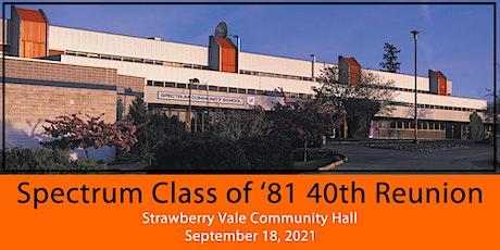 Spectrum Grad '81 Reunion tickets