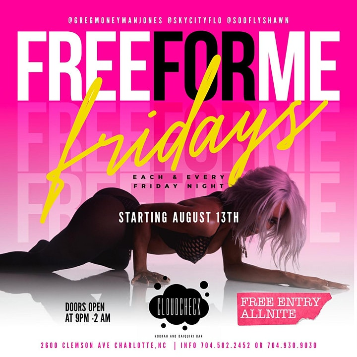 FREE FOR ME FRIDAYS  @ CLOUD CHECK CLT image