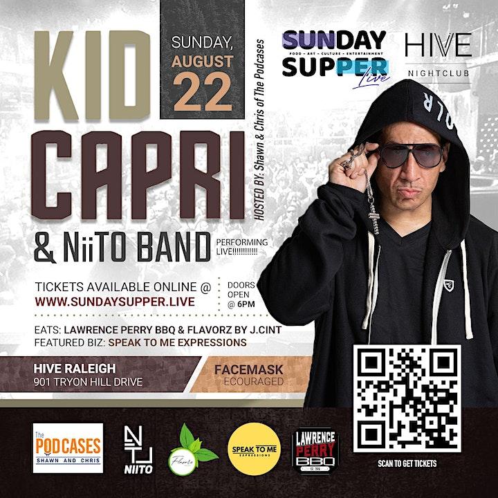 DJ Kid Capri + NiiTO Band | Sunday Supper. Live! image