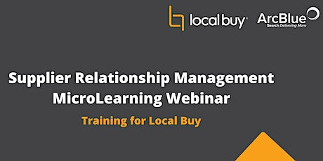 Supplier Relationship Management MicroLearning Webinar tickets