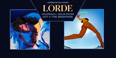 Lorde Appreciation Night tickets