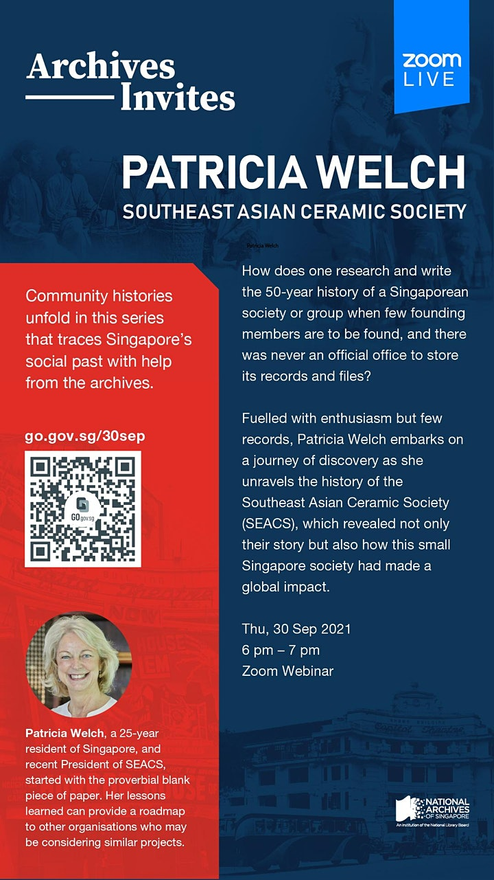 Archives Invites: Patricia Welch, Southeast Asian Ceramic Society image