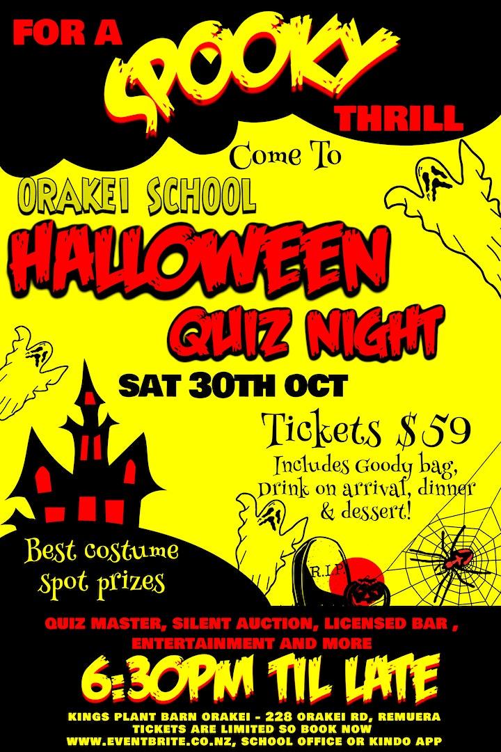 Orakei School FOS Halloween Quiz Night image