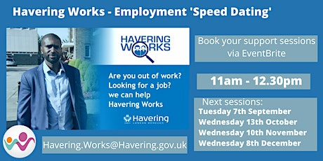 Havering Works - Employment Speed Dating 11am-12.30pm tickets