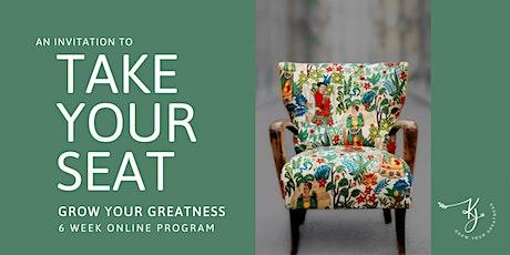 Grow Your Greatness  ~ 6 week online program tickets