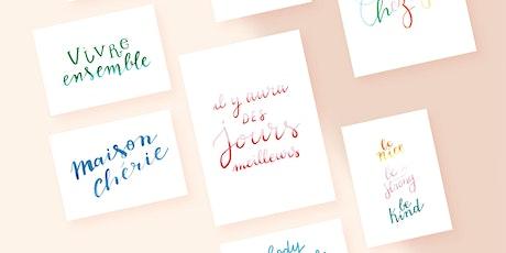 ATELIER : Initiation au brush lettering / BHV MARAIS x Amélie's Workshop billets