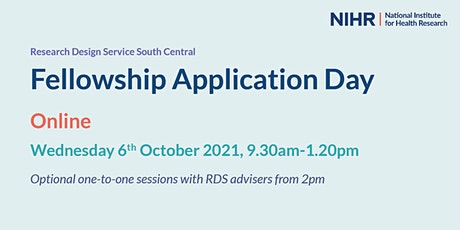 RDS South Central NIHR Fellowship Application Day (FAD) tickets