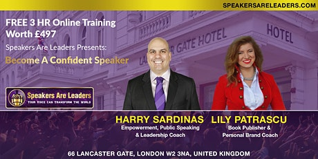 How To Overcome Stage Fright 15 January 2022 9:00AM UK time tickets