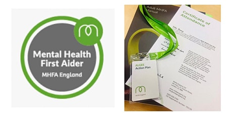 MHFA  Adult Mental Health First Aid 2 day online course tickets