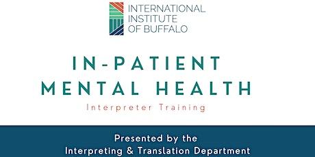In-Patient Mental Health Interpreter Training tickets
