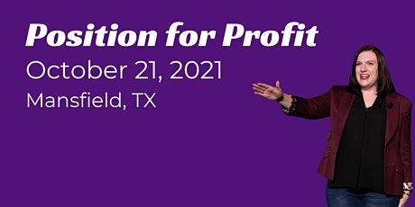 Position for Profit - Live Event tickets