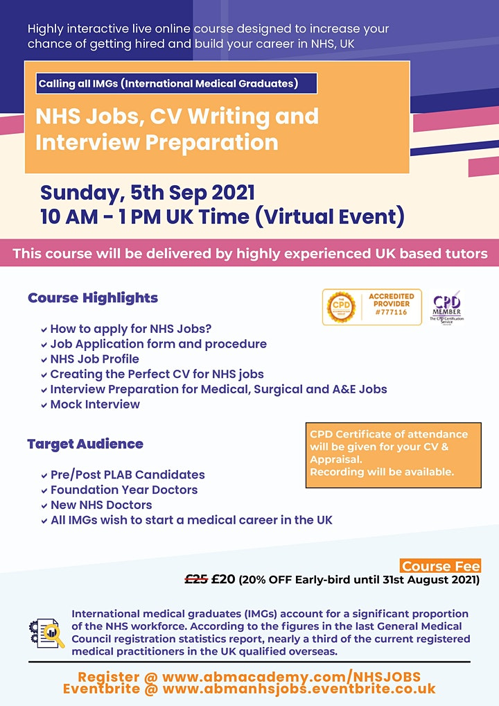 NHS Jobs, CV Writing and Interview Preparation image
