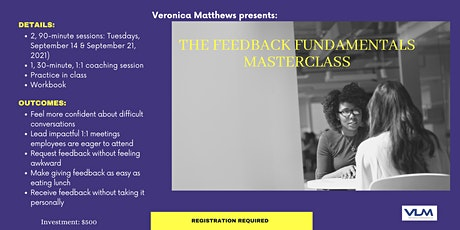 The Feedback Fundamentals Masterclass tickets
