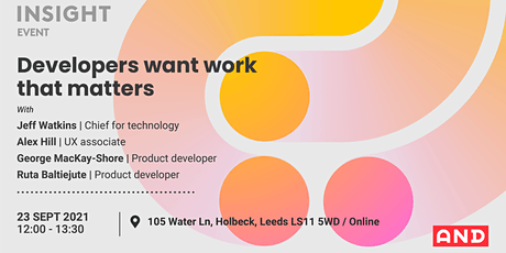 Developers want work that matters tickets