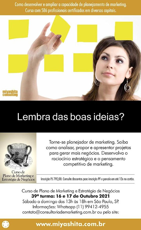 Imagem do evento Curso de Plano de Marketing e Estratégia de Negócios - 39ª turma. São Paulo