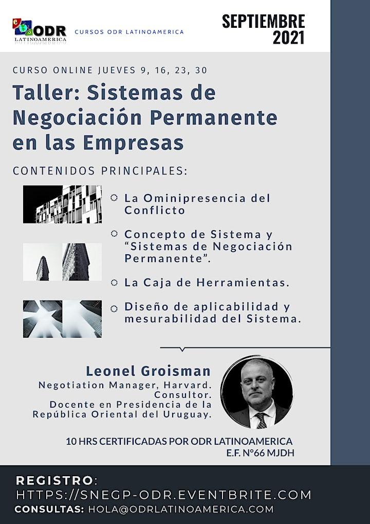 Imagen de Taller - Sistemas de Negociación Permanente en las Empresas