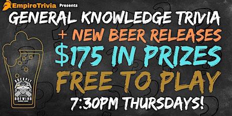 Trivia Night at Rockpit Brewing! tickets